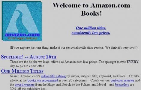 Original Amazon Website Screenshot