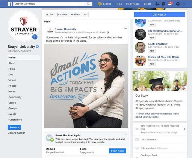 Strayer University Facebook